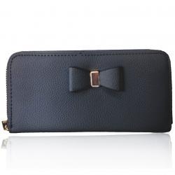 Peňaženka Bow-Čierna
