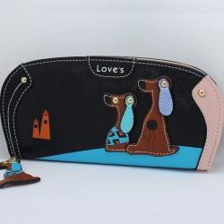 Peňaženka Dogs-Čierna