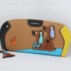 Peňaženka Dogs-Hnedá