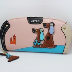 Peňaženka Dogs-Ružová