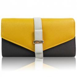 Peňaženka Farah-Žltá/Sivá