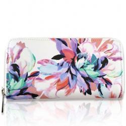 Peňaženka Flowers-Biela