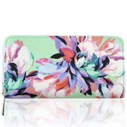 Peňaženka Flowers-Zelená