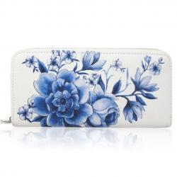 Peňaženka Inez-Biela/Modrá