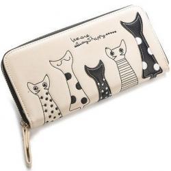 Peňaženka Kitten-Biela