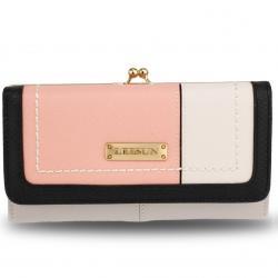 Peňaženka Leesun-Biela/Ružová