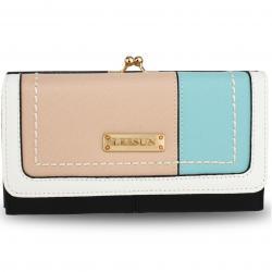 Peňaženka Leesun-Čierna/Ružová