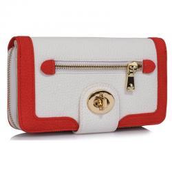 Peňaženka Sophia- Biela/Červená