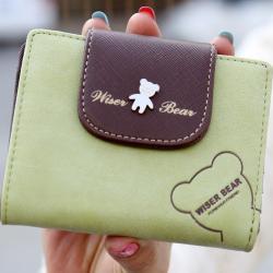 Peňaženka Teddy Bear-Zelená