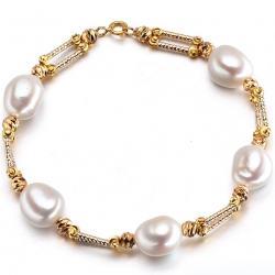 Perlový náramok Lacey Extra - Biela