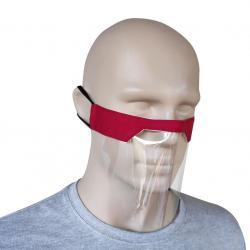 Plastové Ochranné Rúško-Červená