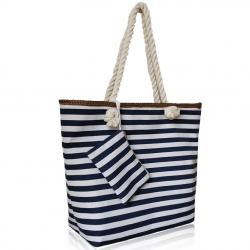Plážová kabelka Sailor-Biela/Modrá