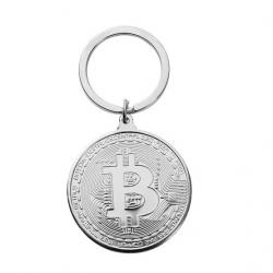 Prívesok Bitcoin-Strieborná