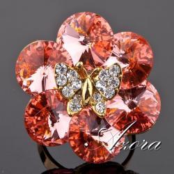Prsteň Butterfly AZORA-Zlatá
