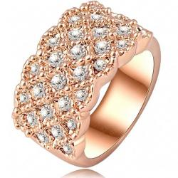 Prsteň Charm- Zlatá / 57mm