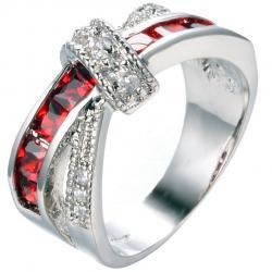 Prsteň Divine-Str./Červená/62,1mm