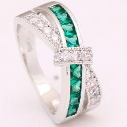 Prsteň Divine-Str./Zelená/62,1mm
