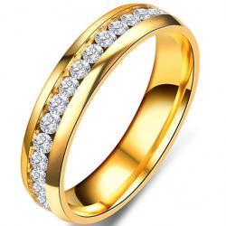 Prsteň Endless-Zlatá/57mm