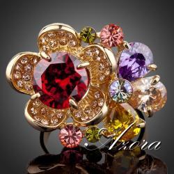 Prsteň Flower AZORA - Multi
