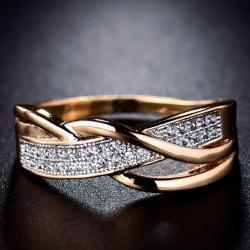 Prsteň Karmen DELICATE-Zlatá/57mm