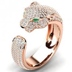 Prsteň Leopard-Zlatá