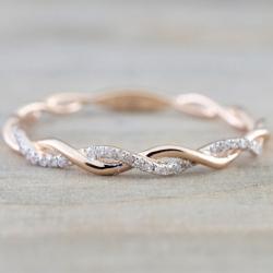 Prsteň Liana-Zlatá/57mm