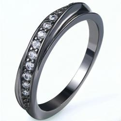 Prsteň Lilien-Čierna/51mm
