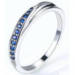 Prsteň Lilien-Str./Modrá/53mm