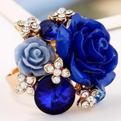 Prsteň Lill-Modrá