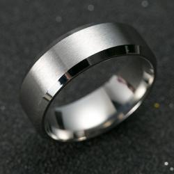 Prsteň Manlike-Strieborná/67mm