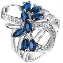 Prsteň Scarlett-Str./Modrá/57mm
