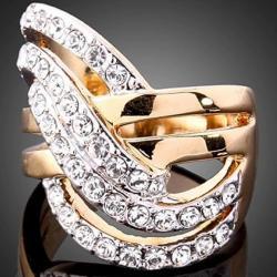 Prsteň Tijana-Zlatá/52mm