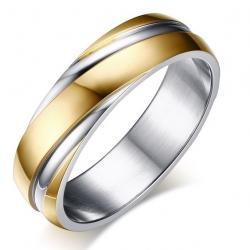 Prsteň Twist-Zlatá/55mm