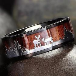 Prsteň Woodland-Hnedá/65mm