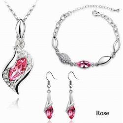 Set Rhinestone - Ružová