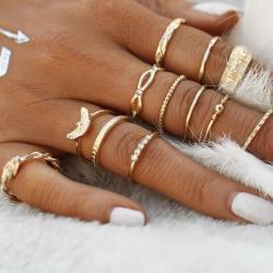 Sada prstienkov Celebrate-Zlatá