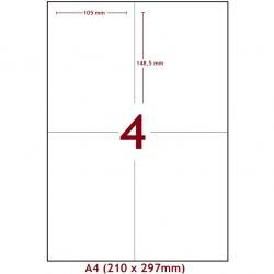 Samolepiace Etikety-Matné/A4-4ks