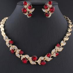 Set Crystal Branch-Zlatá/Červená