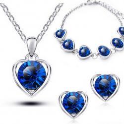 Set Love Heart - Modrá