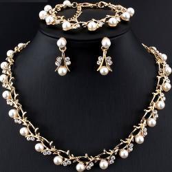 Set Pearl Bush-Zlatá/Biela