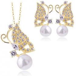 Set Pearl Butterfly - Zlatá