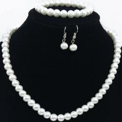 Set Romantic Pearl-Biela
