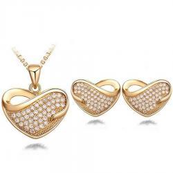 Set Srdiečko Gold - Zlatá