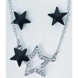 Set Stars SWAROVSKI-Čierna