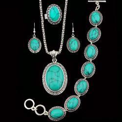 Set Turquoise Antique - Tyrkysová