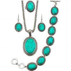 Set Turquoise Antique-Zelená