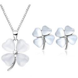 Set šperkov Four Leaf Elegant - Strieborná