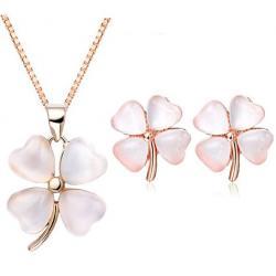 Set šperkov Four Leaf Elegant - Zlatá