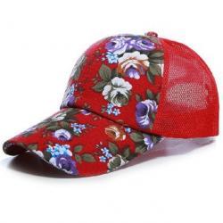 Šiltovka Kvety-Červená