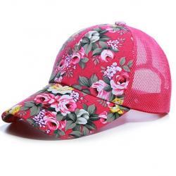 Šiltovka Kvety-Ružová